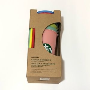 Starbucks 5-Pack Color Changing Reusable Cups